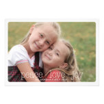 Peace, Love, Joy Holiday Photocard - Red Cards
