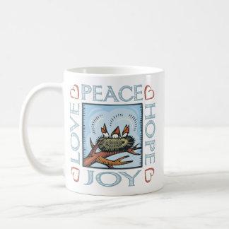 Peace,Love,Joy,Hope Basic White Mug