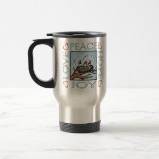 Peace,Love,Joy,Hope Stainless Steel Travel Mug