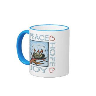 Peace,Love,Joy,Hope Ringer Mug