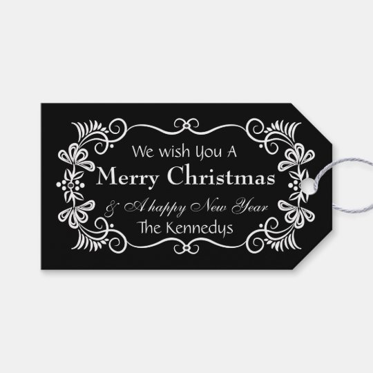Peace Love Joy Merry Christmas Wishes Gift Tags