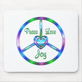 Peace Love Joy Mouse Mat