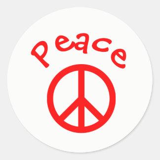 Peace, Love, Joy Peace Sign - Circle Sticker