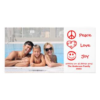 Peace, Love, Joy - Photocard Card