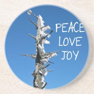 Peace Love Joy - Simple Holiday Wish Coaster