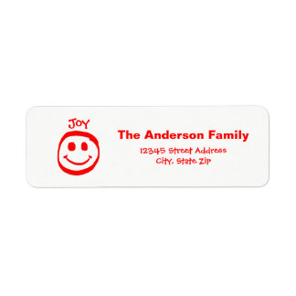 Peace, Love, Joy Smiley Face  - Address Label