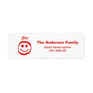 Peace, Love, Joy Smiley Face  - Address Label