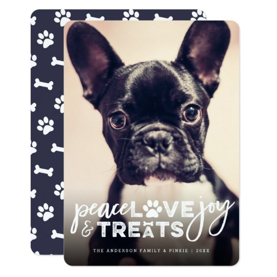 Peace Love Joy Treats Dog Lover Holiday Photo