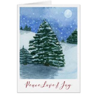 Peace Love&Joy Watercolour Christmas Card