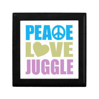 Peace Love Juggle Small Square Gift Box
