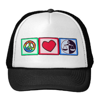 Peace, Love, Justice Trucker Hat