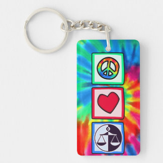 Peace, Love, Justice Keychains