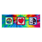 Peace, Love, Justice Poster