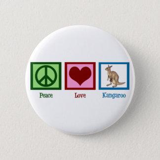 Peace Love Kangaroo 6 Cm Round Badge
