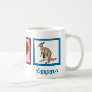 Peace Love Kangaroo Coffee Mug