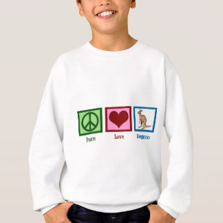 Peace Love Kangaroo Sweatshirt