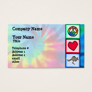 Peace, Love, Kangaroos Business Card