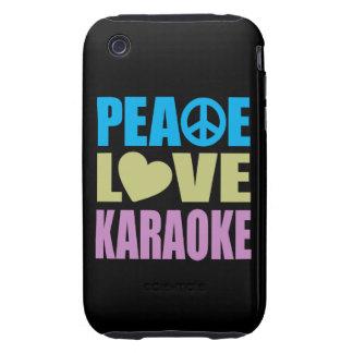 Peace Love Karaoke iPhone 3 Tough Covers
