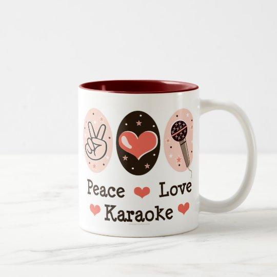 Peace Love Karaoke Mug