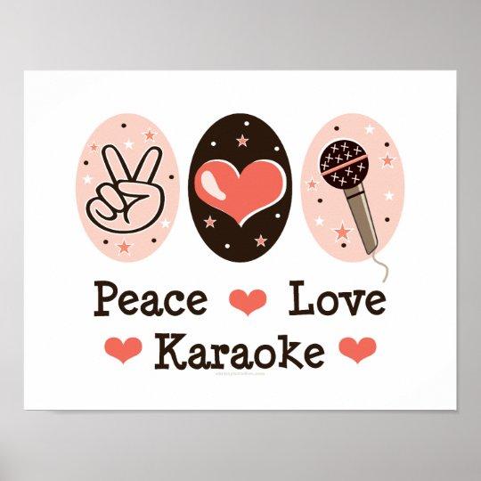 Peace Love Karaoke Poster