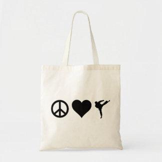 Peace Love Karate Tote Bag