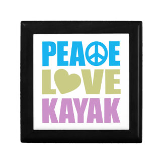 Peace Love Kayak Small Square Gift Box