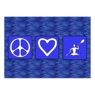 Peace Love Kayaking Business Card Template