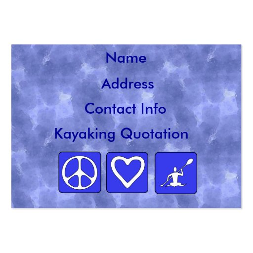 Peace Love Kayaking Business Card Templates