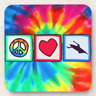 Peace, Love, Kayaking Coaster