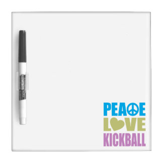 Peace Love Kickball Dry Erase Board
