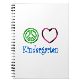 Peace Love Kindergarten School Kid Grade Teacher Notebooks