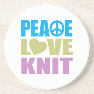 Peace Love Knit Coaster