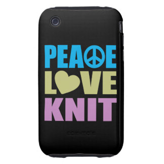 Peace Love Knit Tough iPhone 3 Cover