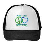 Peace Love KNITTING Mesh Hats