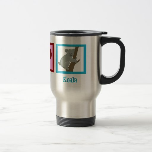 Peace Love Koala Coffee Mugs