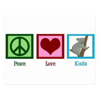 Peace Love Koala Postcard