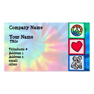Peace, Love, Koalas Double-Sided Standard Business Cards (Pack Of 100)