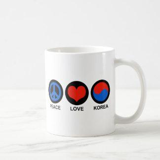 Peace Love Korea Coffee Mugs