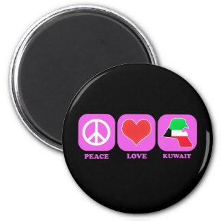 Peace Love Kuwait Magnet