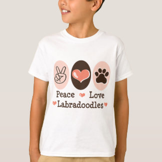 Peace Love Labradoodles Kids T shirt