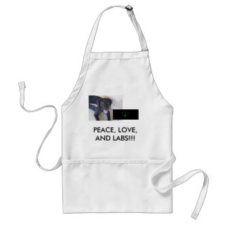 PEACE, LOVE, LABS!!! STANDARD APRON
