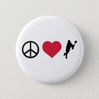 Peace, Love & Lacrosse 6 Cm Round Badge