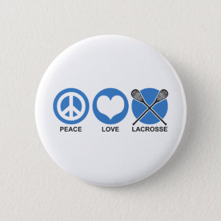 Peace Love Lacrosse 6 Cm Round Badge