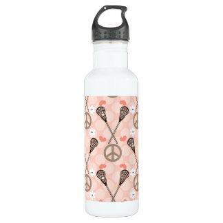 Peace Love Lacrosse BPA Free 710 Ml Water Bottle