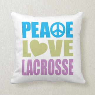 Peace Love Lacrosse Cushion