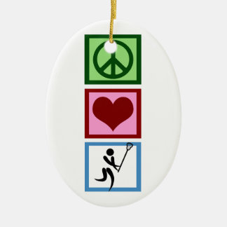 Peace Love Lacrosse Christmas Ornaments