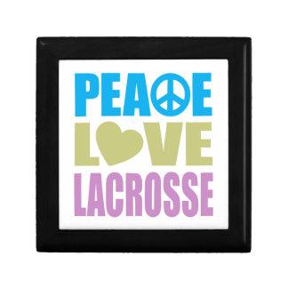 Peace Love Lacrosse Keepsake Box
