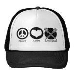 Peace Love Lacrosse Trucker Hats