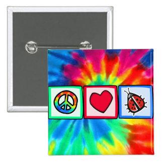 Peace Love Ladybugs Buttons