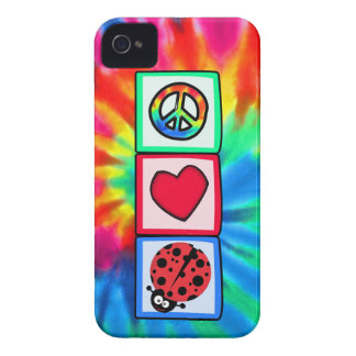Peace, Love, Ladybugs Case-Mate iPhone 4 Case